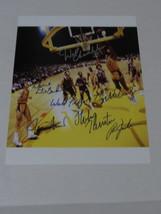 Wilt Chamberlain Jerry West Walt Frazier 11 x 14 signed photo - ₹50,098.05 INR