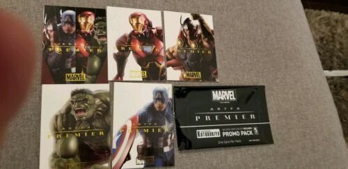 2019 Sdcc Comic Con Exclusive Kotobukiya Marvel Promo 5 Karte Set Iron Man Thor