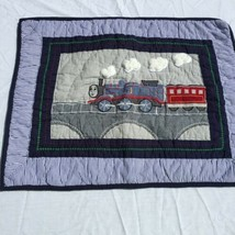 """Thomas & Friends Standard  Pillow Sham Pottery Barn Kids 26"""" x 26"""" Quilted - $48.37"""