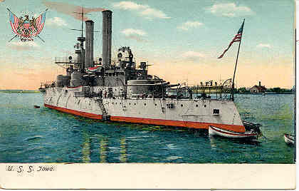 Primary image for United States Battleship Iowa 1906 Vintage Post Card
