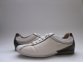 $330 NWD Bruno Magli Rasputin Sneakers Natural/White/Brown Women's 5 - $69.29