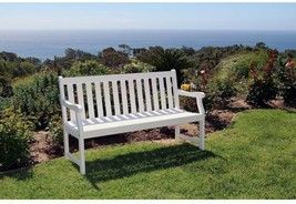 Vifah Outdoor Bench 5 ft. Surface Mounted Waterproof Weather Resistant W... - $165.35