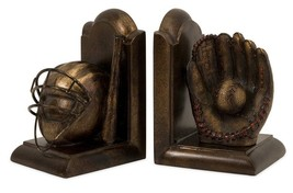 Imax Baseball Bookends Set Of 2 Book Reading Re... - $53.43