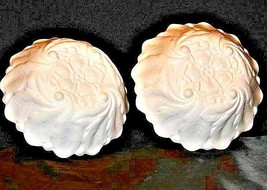 Vintage 2 nine inch white glass bowls with floral design AA19-1400 image 2