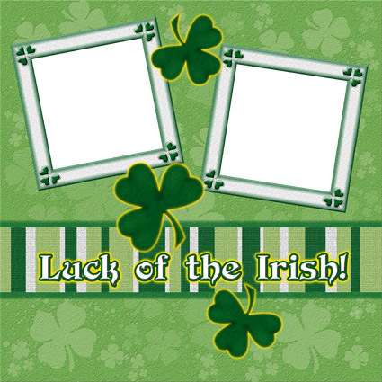 Luck of the Irish ~ Digital Scrapbookng Quick Page Layout
