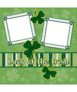 Luck of the Irish ~ Digital Scrapbookng Quick Page Layout - $3.00