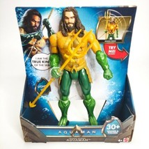 """AQUAMAN Spinning Trident Strike 12"""" Light and Sound Action Figure DC Mat... - $39.55"""