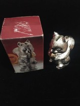 GREAT SIGNED GORHAM SILVER SQUIRREL EATING A NUT STILL BANK Free Shipping - $32.99
