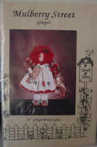 """Wood & Fabric Pattern for Ginger Decorative Doll Figure 20"""" - $5.00"""