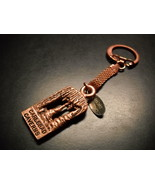 Carlsbad Cavern Key Chain Bright Copper Colored Metal Sterling Tag Mesh ... - $11.99
