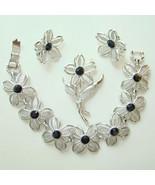 1967 Sarah Coventry Black Beauty Set Bracelet E... - $36.00