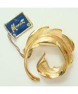 Vintage Monet Gold Tone Pin Fern Design C1970s ... - $24.00
