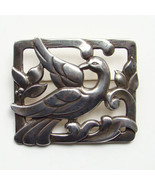 Vintage Coro Norseland Brooch Pin Sterling Silver Framed Bird Signed C1940 - $134.00