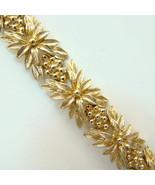 1976 Sarah Coventry Goldenrod Bracelet 9997 Sig... - $59.00
