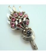 C1944 Hobe Sterling Silver Designer Brooch Pink... - $235.00