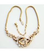 C1950 Crown Trifari Rhinestone Choker Necklace ... - $95.00