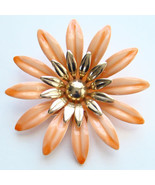 1968 Sarah Coventry Mod Fashion Petals Orange Flower Pin 6738 Signed - $25.00