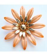1968 Sarah Coventry Mod Fashion Petals Orange F... - $25.00