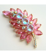 Juliana DeLizza Elster Pink Scooped Out Rhinest... - $150.00
