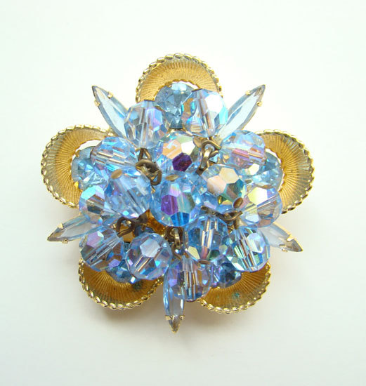 Juliana DeLizza & Elster Rhinestone Blue Bead C... - $85.00