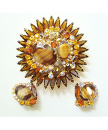 964 Juliana DeLizza & Elster Brooch Earrings Se... - $275.00
