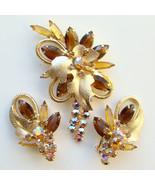 1962 Juliana DeLizza & Elster Brooch Earrings S... - $130.00