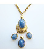 Vintage Les Bernard Etruscan Pendant Necklace B... - $69.00