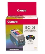 Genuine Canon BC-61 Color Inkjet Cartridge (0918A008) BC61 - $15.95