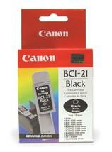 Genuine Canon Model BCI-21BK Black Ink Tank  0954A360 - $6.95