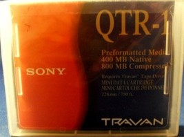 Brand NEW Genuine Sony TRAVAN QTR-1 Preformatted Media 400/800MB - Factory Seale - $7.95
