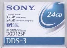 Brand New Genuine Sony Dds 3 Tape 12/24 Gb, Dgd125 P - $7.95
