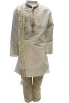 Krishna Sarees BYK3115 Ivory and Gold Boys Kurta Pyjama Indian Suit Fanc... - $25.27+