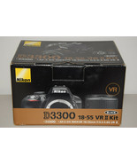 Nikon D D3300 24.2 MP Digital SLR Camera Black Kit w/ AF-S DX VR II 18-5... - $854.15
