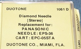 661-D7 PHONOGRAPH RECORD PLAYER STYLUS NEEDLE for Panasonic EPS-36 EPC-05STA image 2