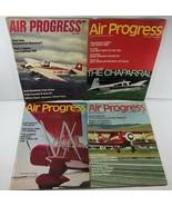 Vintage Lot of 4 AIR PROGRESS Aviation Magazines of 1969 - $17.81