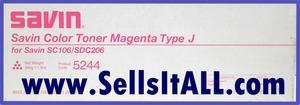 BrGenuine Savin 5244  Type J Magenta Toner - $19.95