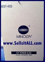 Brand New Genuine Minolta 8937-405 8937405 Black Toner K3A - $19.95