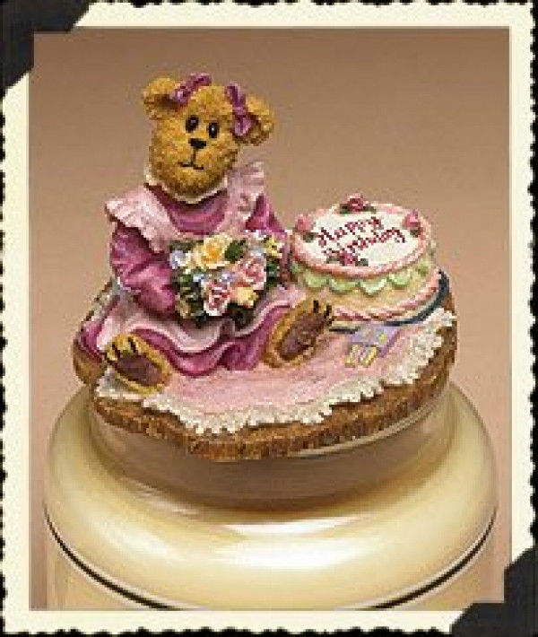 "Boyds Candle Topper ""Patty... Happy Birthday""- #651226 - Resin~ New- Ret... - $29.99"