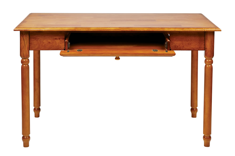 WOOD Antique Cherry Finish Office Laptop Computer Desk Writing Table w/ Drawer