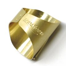 SOLID 925 STERLING SILVER BAND RING, BIG LETTER M, YELLOW SATIN FINISH, SIZABLE image 3