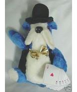 ADORABLE Vintage Stuffed Toy Gambling Walrus w/ Poker Hand 5 Aces Casino - $5.99