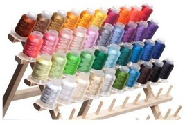 40-Color Embroidery Polyester Threads Outfit Sew Clothes Fabric Patterns... - $69.99