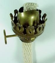 Oil Lamp Burner Antiqued Brass Miniature Mini A... - $21.95