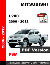 Mitsubishi L200 2006   2012 Factory Service Repair Workshop Maintenance Manual - $14.95