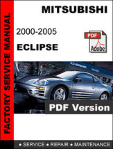 Mitsubishi Eclipse 2000   2005 Factory Service Repair Workshop Oem Fsm Manual - $14.95