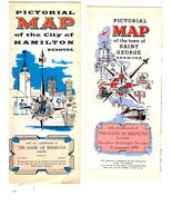 Bermuda (Vintage 1969) Maps- Hamilton Bermuda & Saint George - $2.95