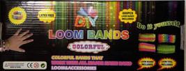DIY LOOM BANDS COLORFUL BRACELET KIT/600 BANDS, CLIPS LATEX FREE!  EASTE... - $9.98