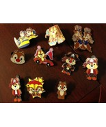 Chipmunk Disney Trading Pins - Set of 10 - $50.00