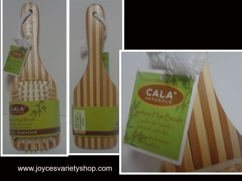 "Primary image for Cala Natural Bamboo Hair Brush 9"" NWT Eco Friendly Free Shipping"