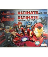Lot of 2 Marvel Avengers Bendon Ultimate Giant Coloring & Activity Book ... - $5.94